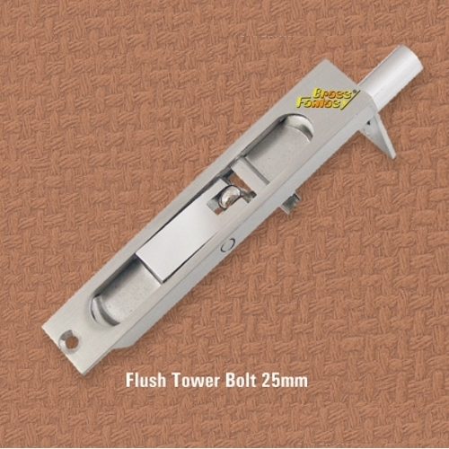 Brass Flush Tower Bolt 25mm
