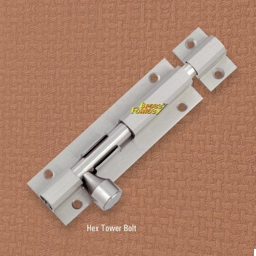 Brass Hex Tower Bolt