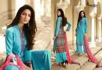Omtex rare pure cotton chinkari work suit