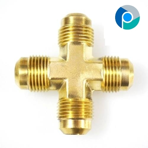 Brass Flare Male Cross