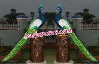 Peacock Theme Fiber Decoration Items