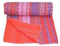Ikat Print Kantha Quilt