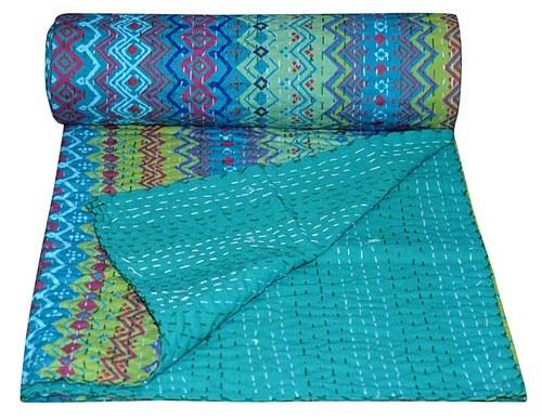 Indian Designer Kantha Quilt