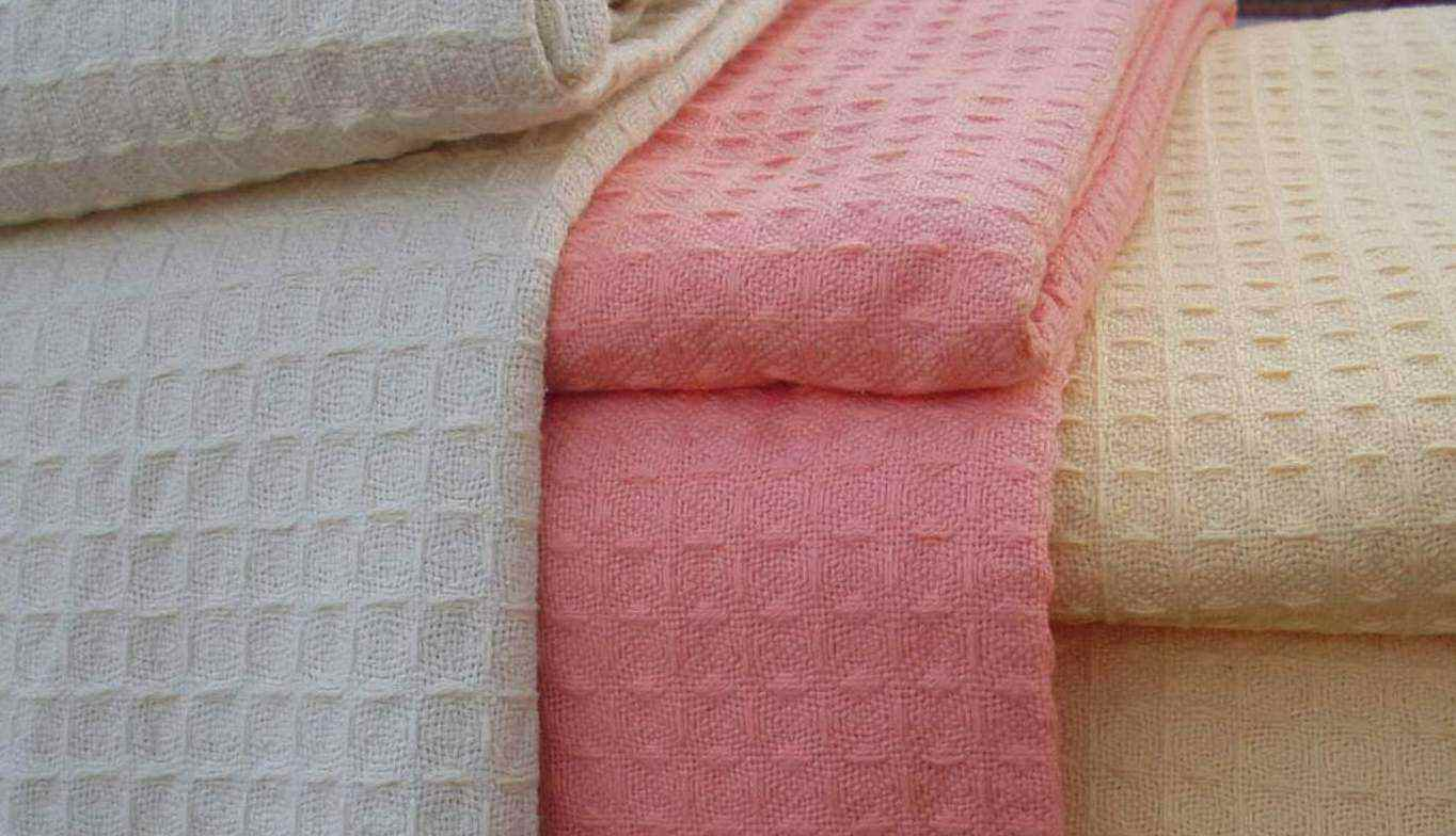 Cotton Waffle Weave Thermal Blanket