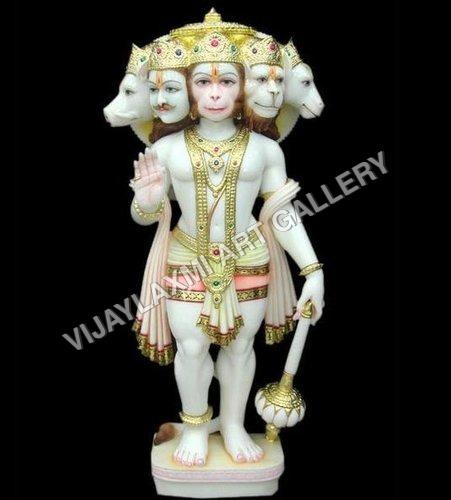Marble Punch Mukhi Hanuman Statue