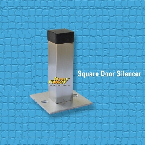 Brass Square Door Silencer