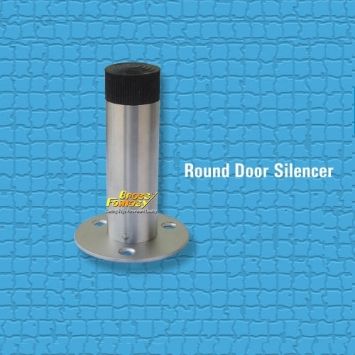 Brass Round Door Silencer