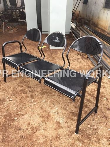 3 seater metal visitors chairs