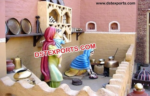 Old Punjabi Ladies Traditional Chaunka