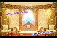 Indian Wedding Gold Crystal Stage