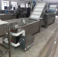 Vegetable or Fruit Soaking tank Brush washer line