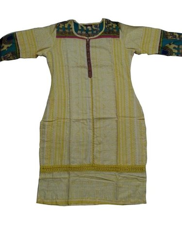 Yellow Cotton Kurtis