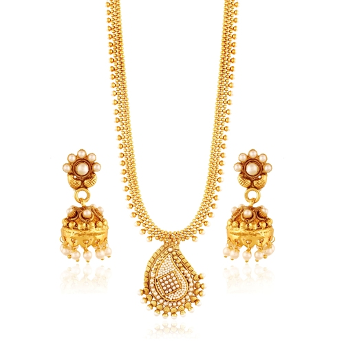Pearl Necklace Set With Jhumki