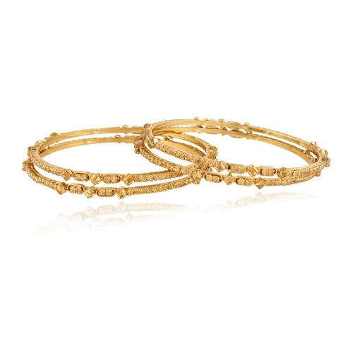 Gold Plated Brown Stone Bangles