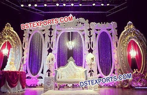 Fiber Backdrop Frames Panels For Wedding Stage