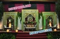 Royal Style Wedding Stage Backdrop Frames