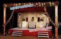 Wedding Stage Gold Crystal Leather Backdrop Frames