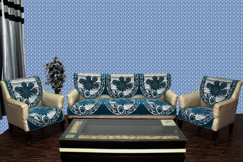 Rangoli Design Chenille Sofa Panel