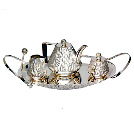 Silver Designer Tea Set