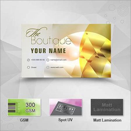 Single Side Business Cards