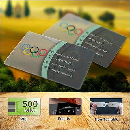 Transparent Visiting Cards