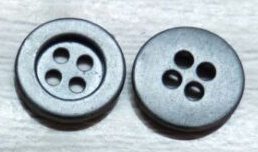 Black Alloy 4 Hole Button
