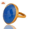 Gold Plated Silver Gemstone Ring Jewelry