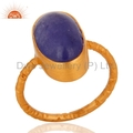 Designer Gold Plated Tanzanite Gemstone Ring