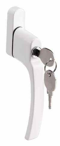 Casement handle with key