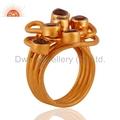Designer Gold Plated Gemstone Ring Jewelry