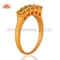 Gold Plated Silver Peridot Gemstone Ring