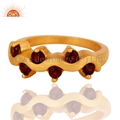Gold Vermeil Garnet Ring