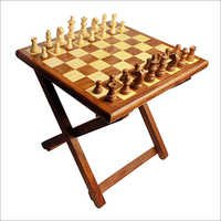 Wooden Folding Table Chess