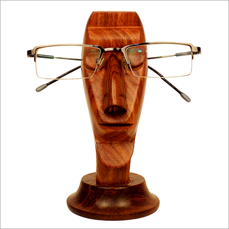 Wooden Face Design Spectacle Holder