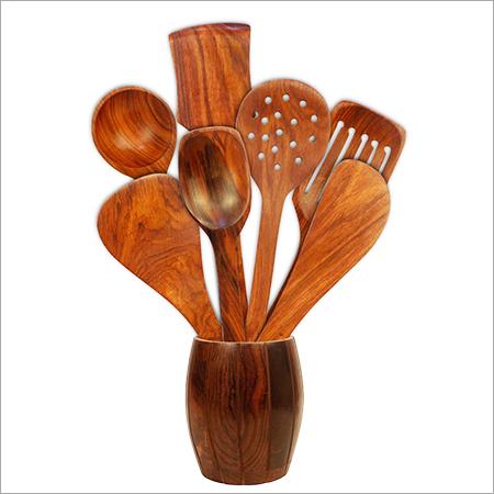 Sheesham Wooden Kitchen Spoon Set