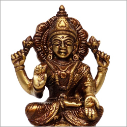 Goddess Laxmi Brass Sculpture
