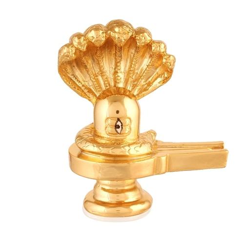 Gold Plated Shivlingam Idol /130 gm