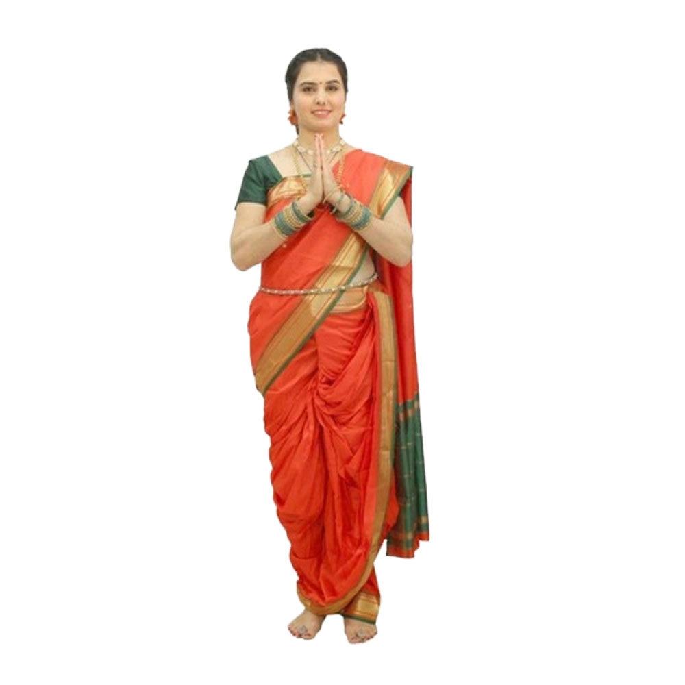 Marathi Lavani Orange Costume