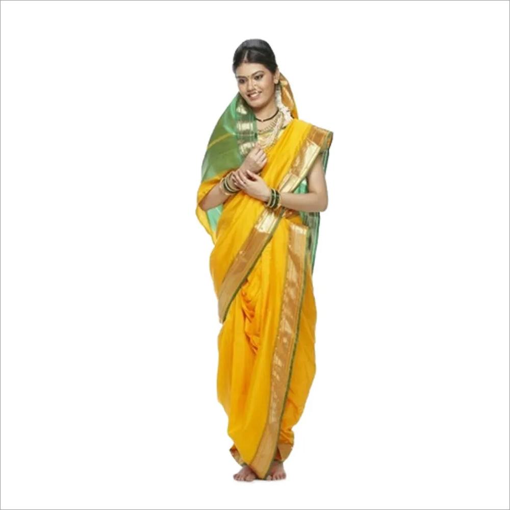 Marathi Lavani Yellow Costume