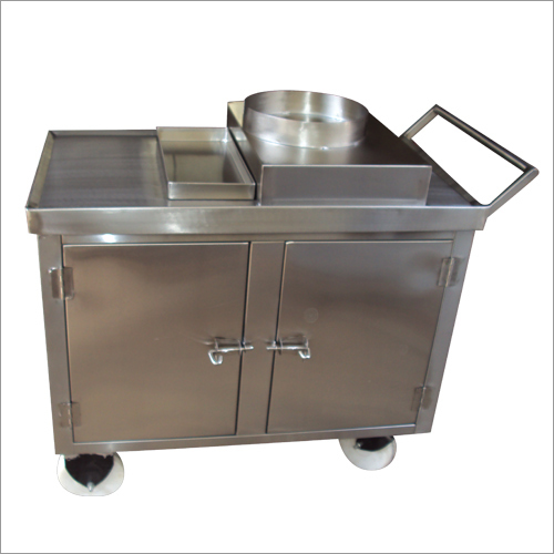 Steel Food Trolley with Drawer