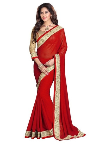 Embroidered Party Wear Sarees