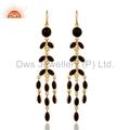 Black Onyx Gemstone 18K Gold Plated Earrings