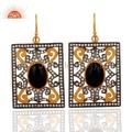 New Designer CZ Black Onyx Earrings Jewelry