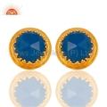 Blue Chalcedony Gemstone Earrings