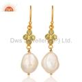 Sterling Silver Peridot & Pearl Earrings