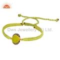 Green Gemstone 925 Silver Bracelets