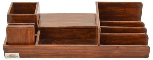 Wooden Office Table Organizer