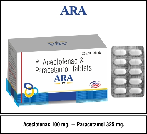 Aceclofenac 100 + Paracetamol 325