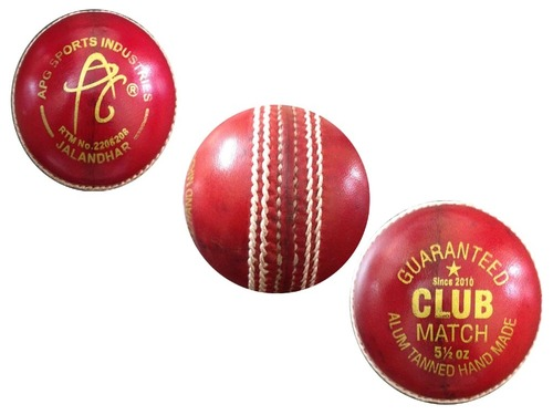 APG Allum Tanned Red Leather Cricket Ball (CLUB)