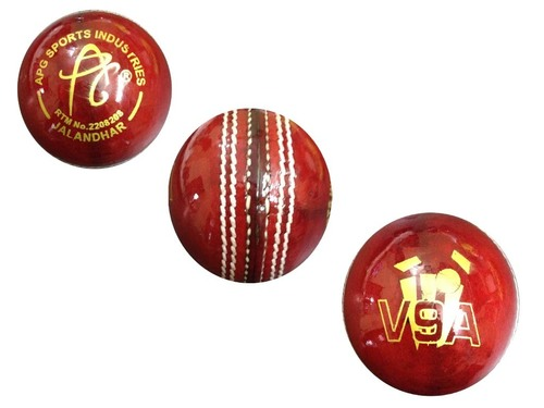 APG V9A Red Leather Cricket Ball